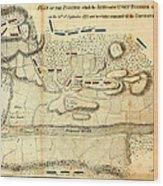 Battle Of Saratoga Wood Print