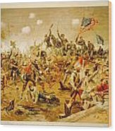 Battle Of Spotsylvania Thure De Thulstrup Wood Print
