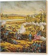 Battle Of Stones River Wood Print