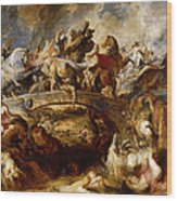 Battle Of The Amazons Wood Print