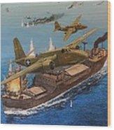 Battle Of The Bismark Sea Wood Print
