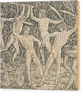 Battle Of The Nudes Wood Print