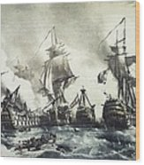 Battle Of Trafalgar, 21st October 1805 Wood Print