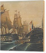 Battle Of Trafalgar Wood Print