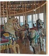 Battle Ship Cove Carousel Wood Print