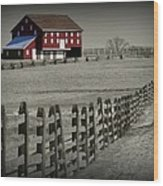 Battlefield Barn Wood Print