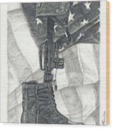 Battlefield Cross Wood Print