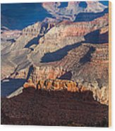 Battleship Rock At The Grand Canyon Wood Print