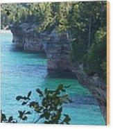 Battleship Row Pictured Rocks National Lakeshore Wood Print
