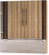 Baughman Center Front Door Wood Print