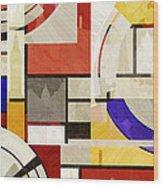 Bauhaus Rectangle Three Wood Print