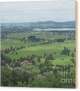 Bavarian Green Valley Wood Print
