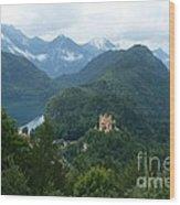 Bavarian Lake With Castle Wood Print