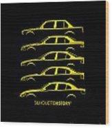 Bavarian Three Sedan Silhouettehistory Wood Print