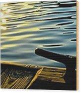 Bay At Rest Wood Print