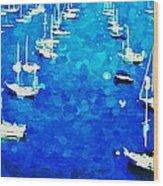 Bay Boats Wood Print