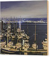 Bay Bridge East Span With Yachts Wood Print