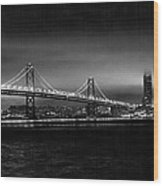 Bay Bridge Blackout Wood Print