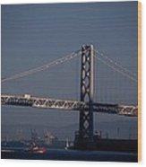 Bay Bridge West Span Wood Print