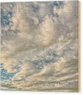 Bay Clouds Wood Print