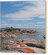 Bay Of Fires Panorama Wood Print