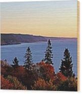 Bay Of Fundy Coastline - New Brunswick Canada Wood Print