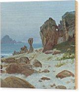 Bay Of Monterey Wood Print by Albert Bierstadt