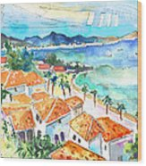 Bay Of Saint Martin Wood Print
