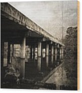 Bay View Bridge Wood Print by Scott Pellegrin