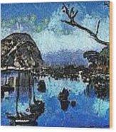 Bay View Morro Bay California Wood Print