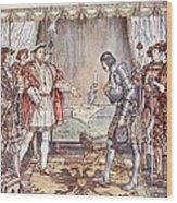 Bayard Presented To Henry Viii Wood Print