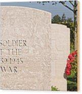 Bayeux British Cemetery Unknown Soldier Wood Print