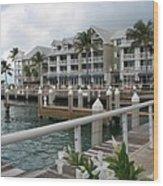 Bayfront Key West II Wood Print