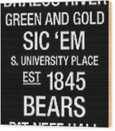 Baylor College Town Wall Art Wood Print by Replay Photos