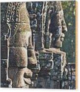 Bayon Faces - Angkor Wat - Cambodia Wood Print