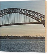 Bayonne Bridge Panoram Sunset Wood Print