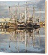 Bayou Labatre' Shrimp Boat Reflections 22 Wood Print by Jay Blackburn