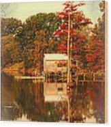 Bayou Scenery Wood Print