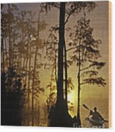 Bayou Sunrise Wood Print by Lianne Schneider