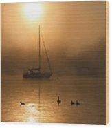 Bayside Sunrise 1 Wood Print
