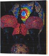 Bazaar Lights Wood Print