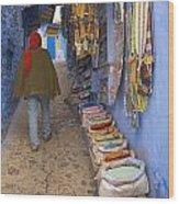 Bazaar Of Colors Wood Print