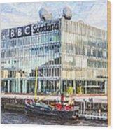 Bbc Scotland Broadcasting Centre Glasgow Wood Print