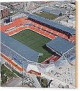 Bbva Compass Stadium In Houston Wood Print