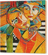 Be My Love Wood Print by Jennifer Croom