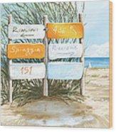 Beach 151 Wood Print