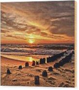 Beach 5 Wood Print