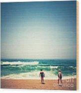 Beach 6 Wood Print