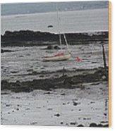 Beach At Culross Scotland Wood Print
