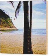 Beach At Ipanema - 2 Wood Print